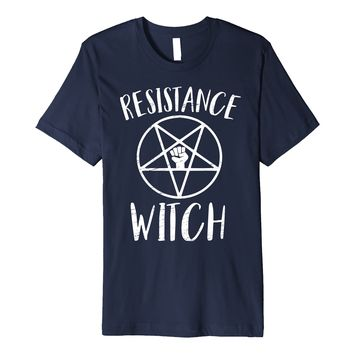Resistance Witch Funny Resist Protest Women's March T-shirt