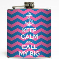 Mascot Call My Big - Sorority Flask