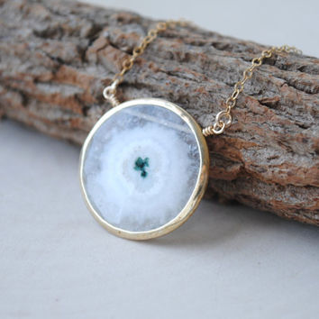 Solar Quartz Necklace, Solar Quartz Jewelry, Solar Quartz Pendant Necklace