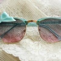 OMBRE Bow Sunglasses - Pink & Blue - Cute Summer Glasses