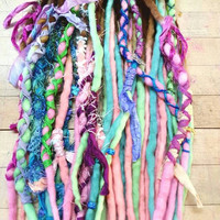 Custom Wool Dreads Handmade Hair Extensions Wool Dreads Ombre Hair Accessories Set of 20 LETS have some FUN