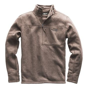 Men's Gordon Lyons 1/4 Zip in Falcon Brown Heather by The North Face