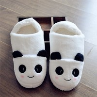 FunShop Women's Panda Pattern White Indoor Slipper H1030