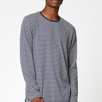 PacSun Seagull Striped Scallop Long Sleeve T-Shirt at PacSun.com