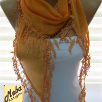 Orange scarf ,women scarves -  fashion scarf - gift scarves -Fashion accessories- for her-  gift