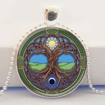 Tree Of Life Pendant Silver Necklace