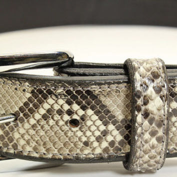 "Burmese Python Snake Skin Belt - Genuine Python Skin - Free Shipping, Lifetime Warranty, and Made to Order - Sizes 30"" to 52"""