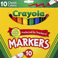 Google Express - Crayola Classic Broadline Markers - 10 count