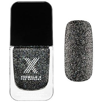 Nail Polish Brilliants Formula X for Sephora Naughty Newton - Black and Silver Iridescent Glitter