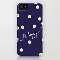 *** HAPPY DAISY ***  iPhone & iPod Case by Monika Strigel for iphone 5c, 5s, 5, 4s, 4, 3gs, 3g, ipod touch and Samsung Galaxy!