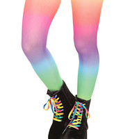 Rainbow Opaque Tights | Hot Topic
