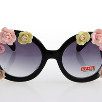 Women's Cute Lovely Summer Style Hot Fashion Fimo Flower Sunglasses = 4672245892