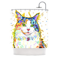 "Rebecca Fischer ""Royal"" Rainbow Cat Shower Curtain"
