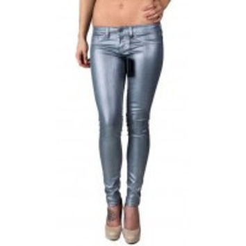 Flying Monkey Metallic Skinny Jeans L7439HZ