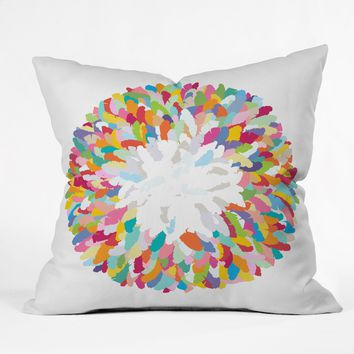 Sharon Turner Fizzy Feathers Throw Pillow