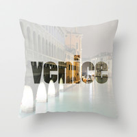 Venice Throw Pillow by Salty Lyon | Society6