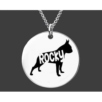 Boston Terrier Necklace   Personalized Dog Necklace