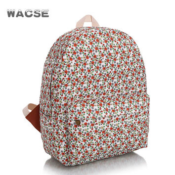 Pastoral Style Canvas Stylish Travel Fashion Casual Backpack = 4887884676