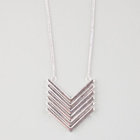 Full Tilt Chevron Pendant Necklace Antique Silver One Size For Women 26299758201