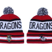 PEAPON St. George Illawarra Dragons Beanies NRL Football Hat