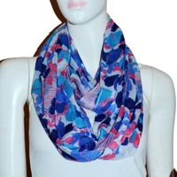 Fashion Light Weight All Season Floral Printed Infinity Scarf (FD)