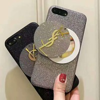YSL mirror shining iPhone Phone Cover Case For iphone 6 6s 6plus 6s-plus 7 7plus H-AGG-CZDL