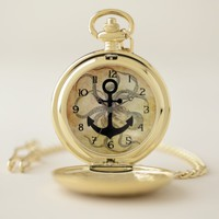 Steampunk Octopus and Anchor Pocket Watch