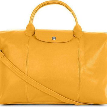 869c7fd0c8c0 Longchamp Le Pliage Cuir Sunshine Leather Handbag Retails  565 Made in  France