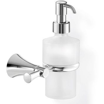 SCBA Fontana Wall Frosted Glass Pump Soap Lotion Dispenser Bath or Kitchen