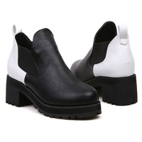 Color Block Paneled Boots - OASAP.com