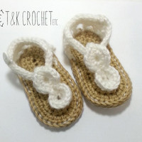 Crochet Baby Sandals - Baby Gladiator Shoes - Baby Girl Crochet Sandals