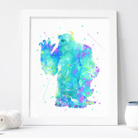 Sulley Poster - Monster Inc Print - Disney Wall Art