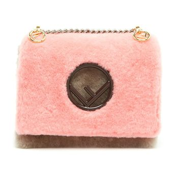 Shearling Pink Mutton Leather Purse by Fendi