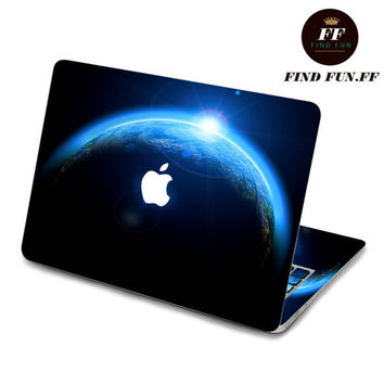 back cover of decal Macbook Air Sticker Macbook Air Decal Macbook Pro Decal 地球054