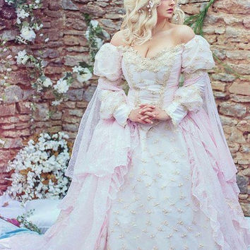 Sleeping Beauty Princess Medieval Fantasy Gown Custom Color and Size