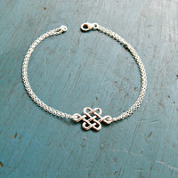 Knot Bracelet Celtic Knot Friendship Bracelet Bridesmaid Jewelry Bridesmaid Gift Irish Wedding Thanks for helping me tie the knot Gift