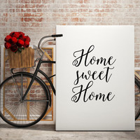 "Love poste Family quote ""Home sweet Home"" Family print Gift idea Home decor Home poster Wall ArtWork Instant Download Printable Quotes"