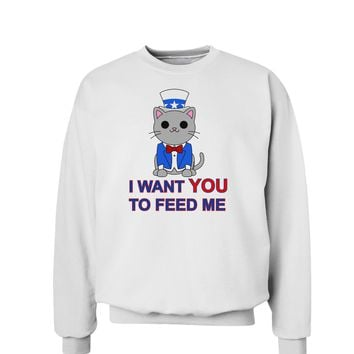 Patriotic Cat I Want You Sweatshirt by TooLoud