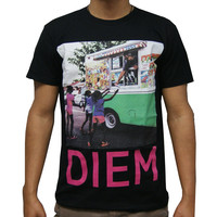 DIEM Cream T-Shirt In Black
