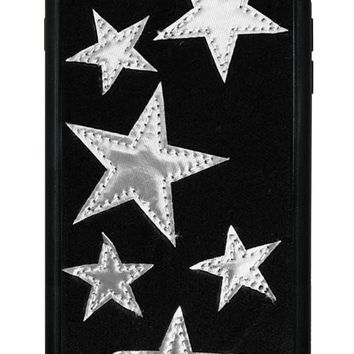 Black Velvet Silver Stars iPhone 6/7/8 Plus Case