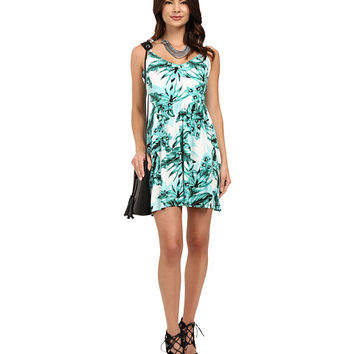 Jack by BB Dakota Brittania Tropical Bliss Printed Rayon Crepe Dress