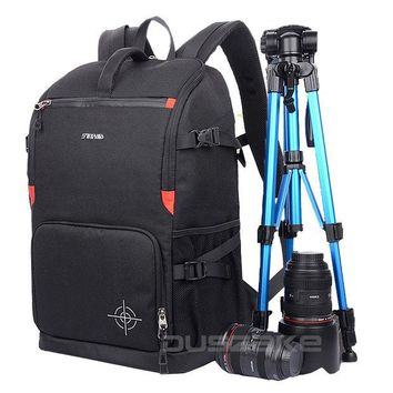 DCCKL3Z DSLR Camera Photo Backpack Padding Divider Insert with 15' Laptop Pack Travel Bag for Canon 5D 7D 600D Nikon D7200 Sony a6000 38