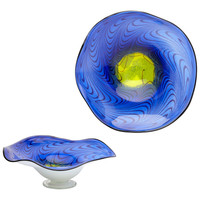 Art Glass Bowl - Cobalt Blue - Large