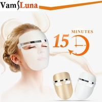 Electric LED Facial Mask Red Blue Orange Color Photon Skin PDT Boosts Blood Circulation Relieves Stress On Skin Beauty Care