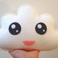 Made to Order - White Cloud Pillow - Soft Toy - Kawaii Cloud