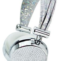 Hype JEWEL HY-955-SLV Silver 3.5mm Stereo Headset Headphones w. Mic & Answer Button