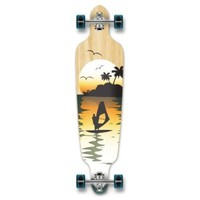New Graphics Drop Through Complete Longboard Professional Speed Skateboard (Tropical Night)