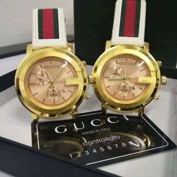 GUCCI classic men and women wild large dial quartz watch