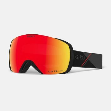 Giro - Contact AF Black Red Sport Tech Snow Goggles / Vivid Ember + Vivid Infrared Lenses