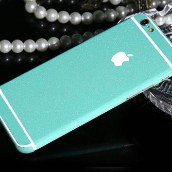 Frosted Aqua Sparkle Decal Wrap Skin Set iPhone 6s 6 / iPhone 6s 6 Plus